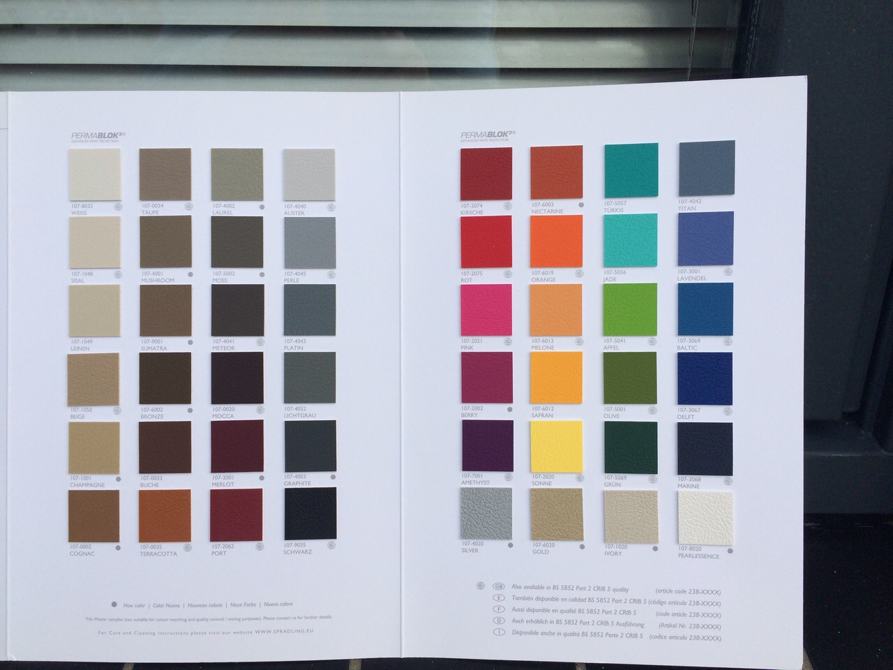 Bqergonomics Color Charts